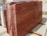 Red Persian Travertine vein cut polished